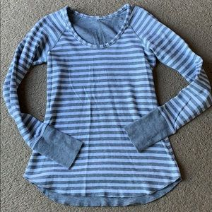 Lululemon LS top women's sz 4 striped
